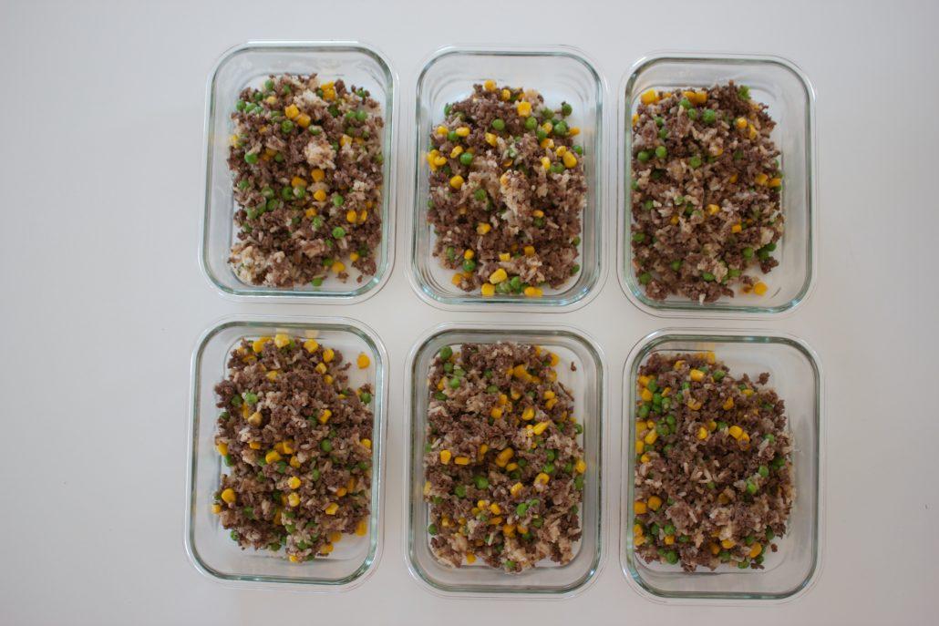 proteinrik risotto, proteinrik matlåda, protein matlåda, enkla matlådor, deff matlådor, matlåda för deff, proteinrik matlåda risotto